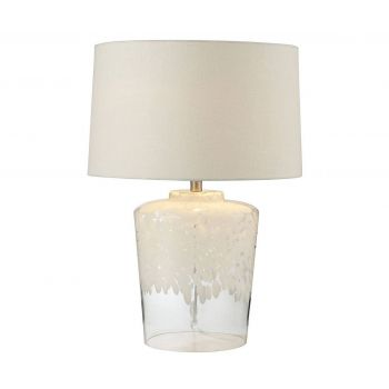 """Dimond Flurry Frit 25"""" Well Boutique Glass Lamp"""
