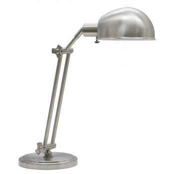 House of Troy Satin Nickel Adjustable Pharmacy Table Lamp
