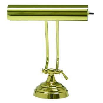 "House of Troy Advent 10"" Polished Brass Piano Desk Lamp"
