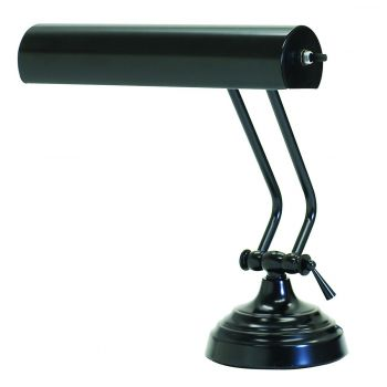 "House of Troy Advent 10"" Piano Desk Lamp in Black Finish"