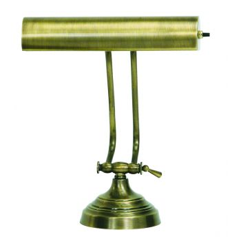 "House of Troy Advent 10"" Antique Brass Piano Desk Lamp"