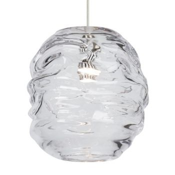 Tech Lighting Audra LED 3000K Clear Line-Voltage Pendant in Satin Nickel