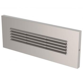 LBL Lighting Louver LED Outdoor Brick Light in Satin Nickel