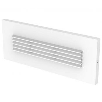 LBL Lighting Louver LED Outdoor Brick Light in White