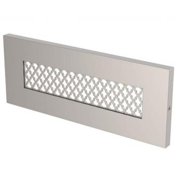 LBL Lighting Tracery LED Outdoor Brick Light in Satin Nickel