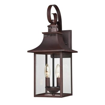 Quoizel Chancellor 2-Light Outdoor Lantern in Copper Bronze