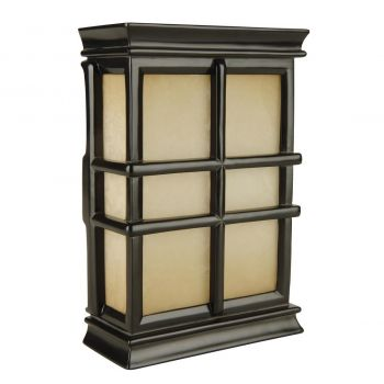 Craftmade Signature Teiber Hand-Carved Window Pane Chime in Black