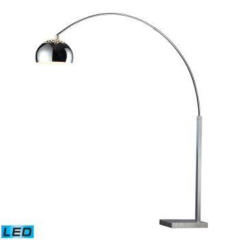 Dimond Penbrook LED Floor Lamp in Silver & White Marble