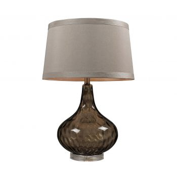 """Dimond HGTV 24"""" Water Glass Table Lamp in Smoked Coffee w/Taupe"""
