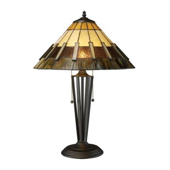 Dimond Porterdale 2-Light Table Lamp in Tiffany Bronze