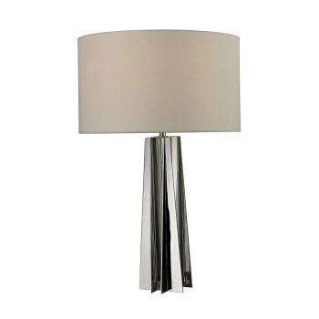 """Dimond Ranick 25"""" Clear Crystal Table Lamp in Chrome"""