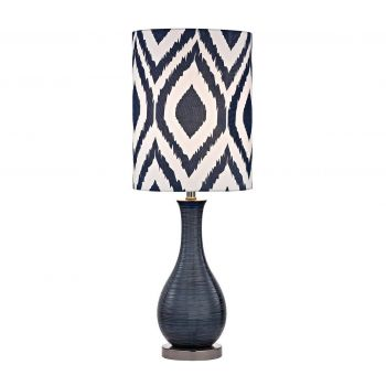 """Dimond Hitchin 24"""" Ceramic Table Lamp in Navy Blue"""