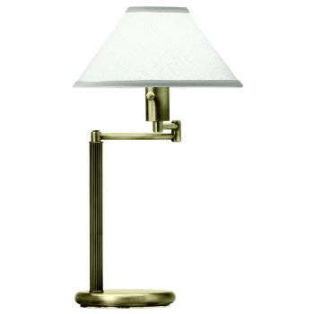 House of Troy Swing Arm Desk Lamp in Antique Brass