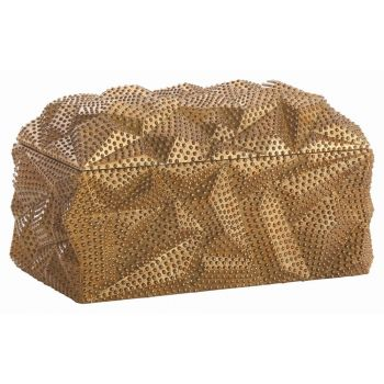 "Arteriors Laura Kirar 12"" Box in Antiqued Gold"