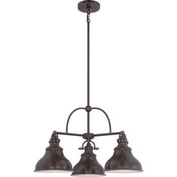 Quoizel Emery 3-Light Chandelier in Palladian Bronze