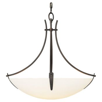 Feiss Boulevard Collection 3-Light Uplight Chandelier in Bronze Finish