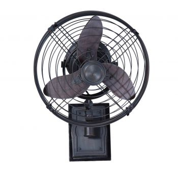 """Craftmade Faraday 14"""" Wall Mount Fan with Blades in Aged Bronze Brushed"""