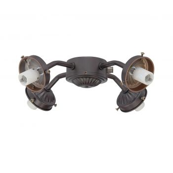 Savoy House Versatile 4-Arm Fan-Light Kit in English Bronze