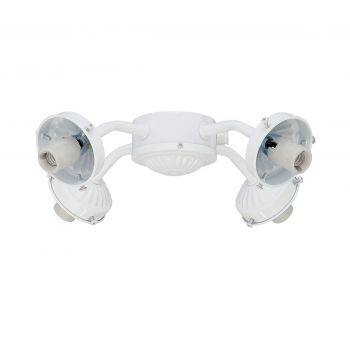Savoy House Fitter 4-Arm Fan-Light Kit in White