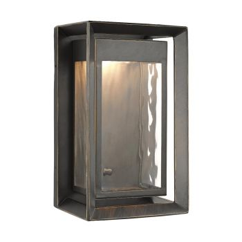"Feiss Urbandale 10"" 1-Light Outdoor LED Wall Lantern in Antique Bronze"