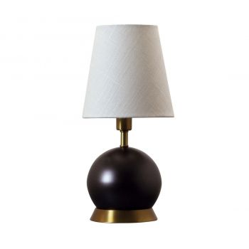 """House of Troy Geo 12"""" Ball Accent Lamp in Mahogany Bronze/Weathered Brass"""