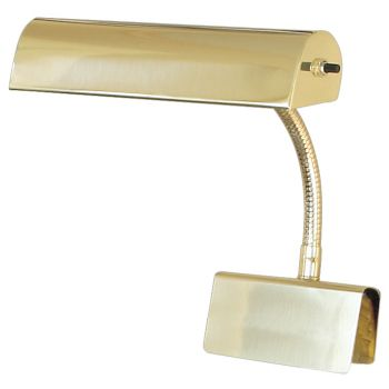 "House of Troy Grand Piano Lamp 10"" Polished Brass"