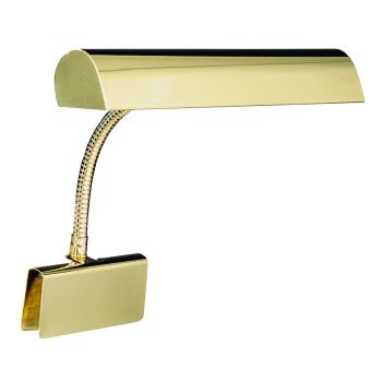 "House of Troy 14"" Grand Piano Lamp in Polished Brass"