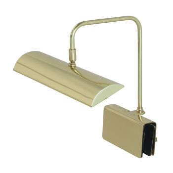 "House of Troy Zenith 12"" LED Piano Lamp in Polished Brass"