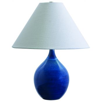 House of troy scatchard 19 stoneware accent lamp in blue gloss