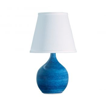 """House of Troy Scatchard 13.5"""" Mini Accent Lamp in Blue Gloss"""