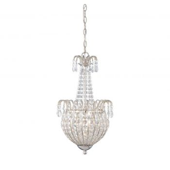 Quoizel Jolene Pendant in Imperial Silver Finish