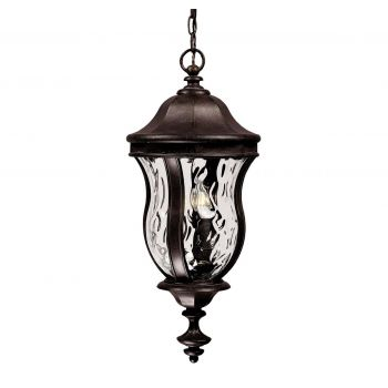 "Savoy House Monticello 24"" Outdoor Hanging Lantern in Walnut Patina"