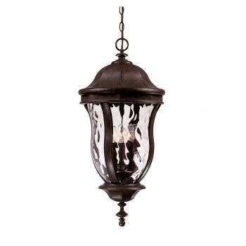 Savoy House Monticello Outdoor Hanging Lantern in Walnut Patina