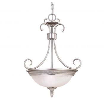Savoy House Spirit 2-Light Bowl Pendant in Pewter