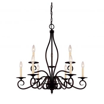 Savoy House Oxford 9-Light Chandelier in English Bronze