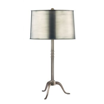 Hudson Valley Burton Table Lamp in Aged Silver