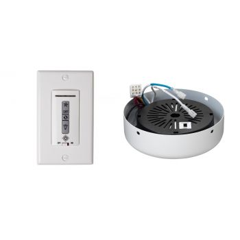 Monte Carlo Wired Wall Remote w/ White Switch Plate/Receiver Hub in White