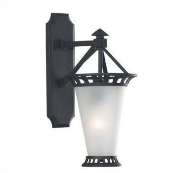 Kenroy Home Beale Street Extra Large Outdoor Wall Lantern in Ebony