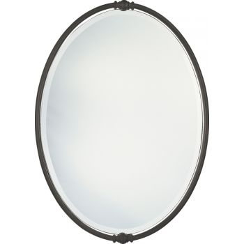 "Feiss Boulevard 33"" x 24"" Mirror in Oil Rubbed Bronze Finish"
