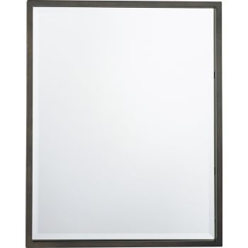 "Feiss Boulevard 30"" x 24"" Mirror in Oil Rubbed Bronze Finish"