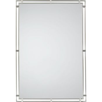 "Feiss Parker Place 32 1/2"" x 22 1/2"" Mirror in Brushed Steel Finish"