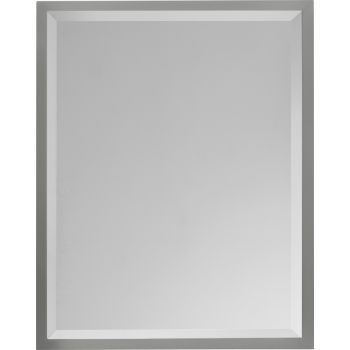 "Feiss Hallie Miranda 30"" x 24"" Mirror in Brushed Steel Finish"