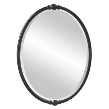 "Feiss Jackie 32 7/8"" x 24"" Mirror in Oil Rubbed Bronze Finish"