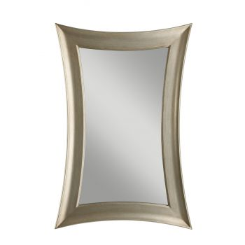 "Feiss Georgette 45"" x 30"" Mirror in Antique Silver Leaf Finish"