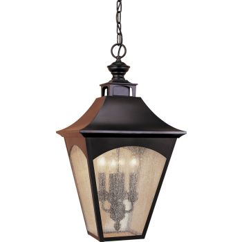 "Feiss Homestead 13"" Hanging Lantern in Bronze Finish"