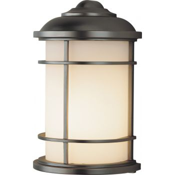 "Feiss Lighthouse Wall 7"" Mount Lantern in Bronze Finish"
