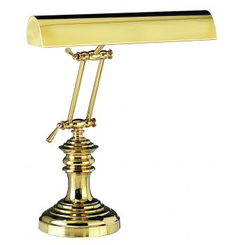 """House of Troy 14"""" Piano Desk Lamp in Polished Brass Finish"""