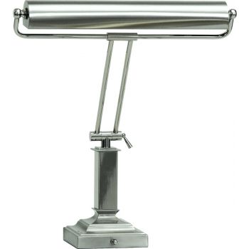 "House of Troy 15"" Piano Lamp in Satin Polished Nickel"