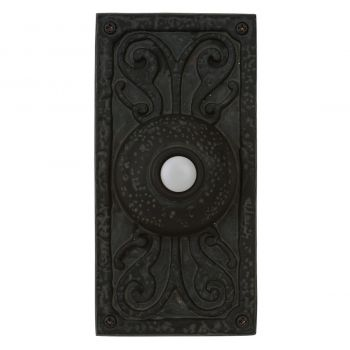 Craftmade Tieber Lighted Push Button Door Bell in Weathered Black