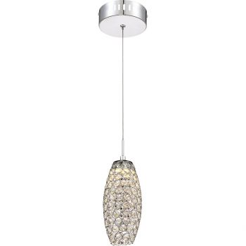 Quoizel Platinum Collection Infinity Mini Pendant in Polished Chrome